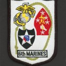 USMC Marine Corps Patch 6th MARINE REGIMENT 2nd MARINE DIVISION Embroidered
