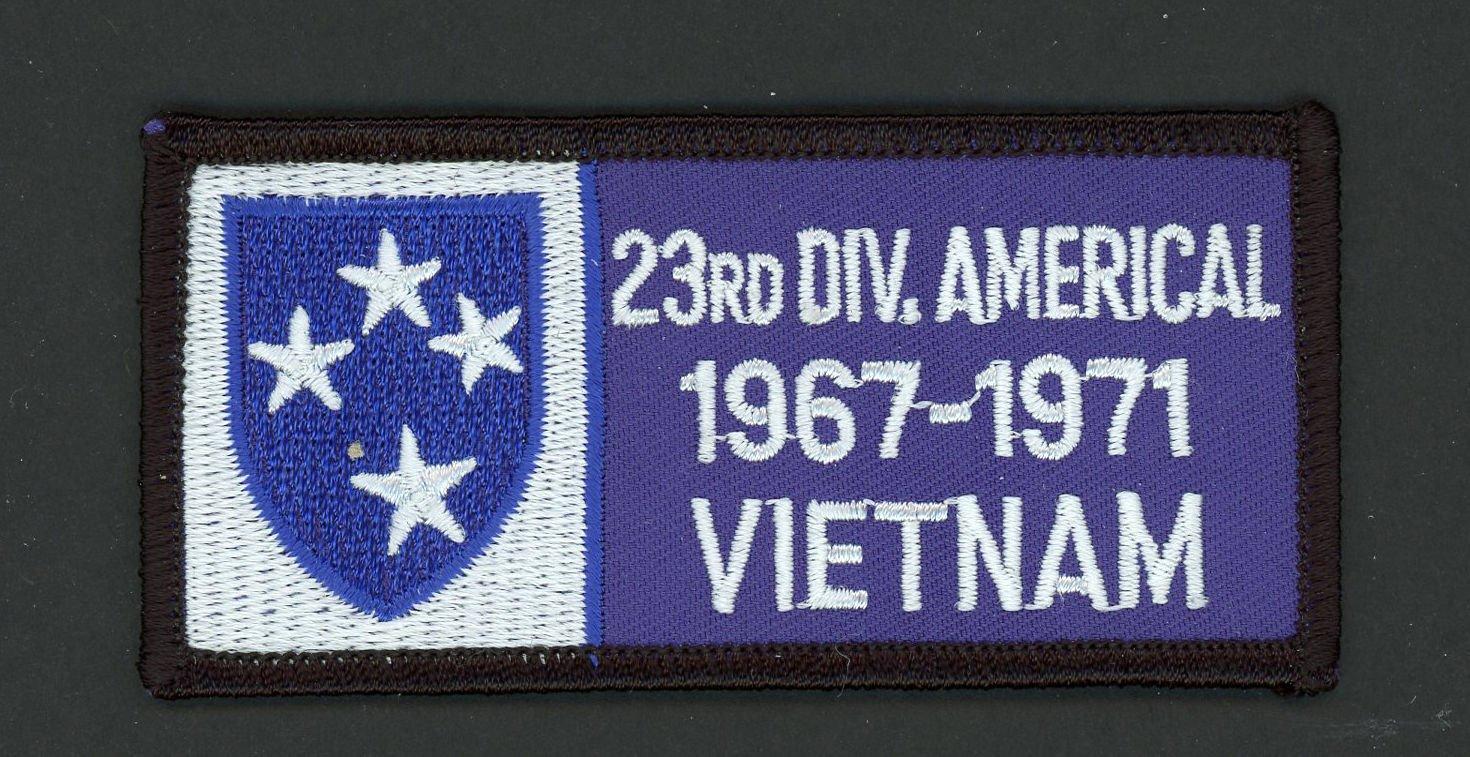 "Vietnam War Patch US 23rd INFANTRY Division 1967-1971 VIETNAM Army 4"" x 2"""