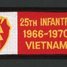"US Army 25th Infantry 1966-1970 Vietnam Patch 4"" x 2"" Embroidered Iron On Vet"