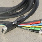 Extron 12' Black VGA-F HD-15 to 5 BNC RGB Cable for HDTV Extension Monitor