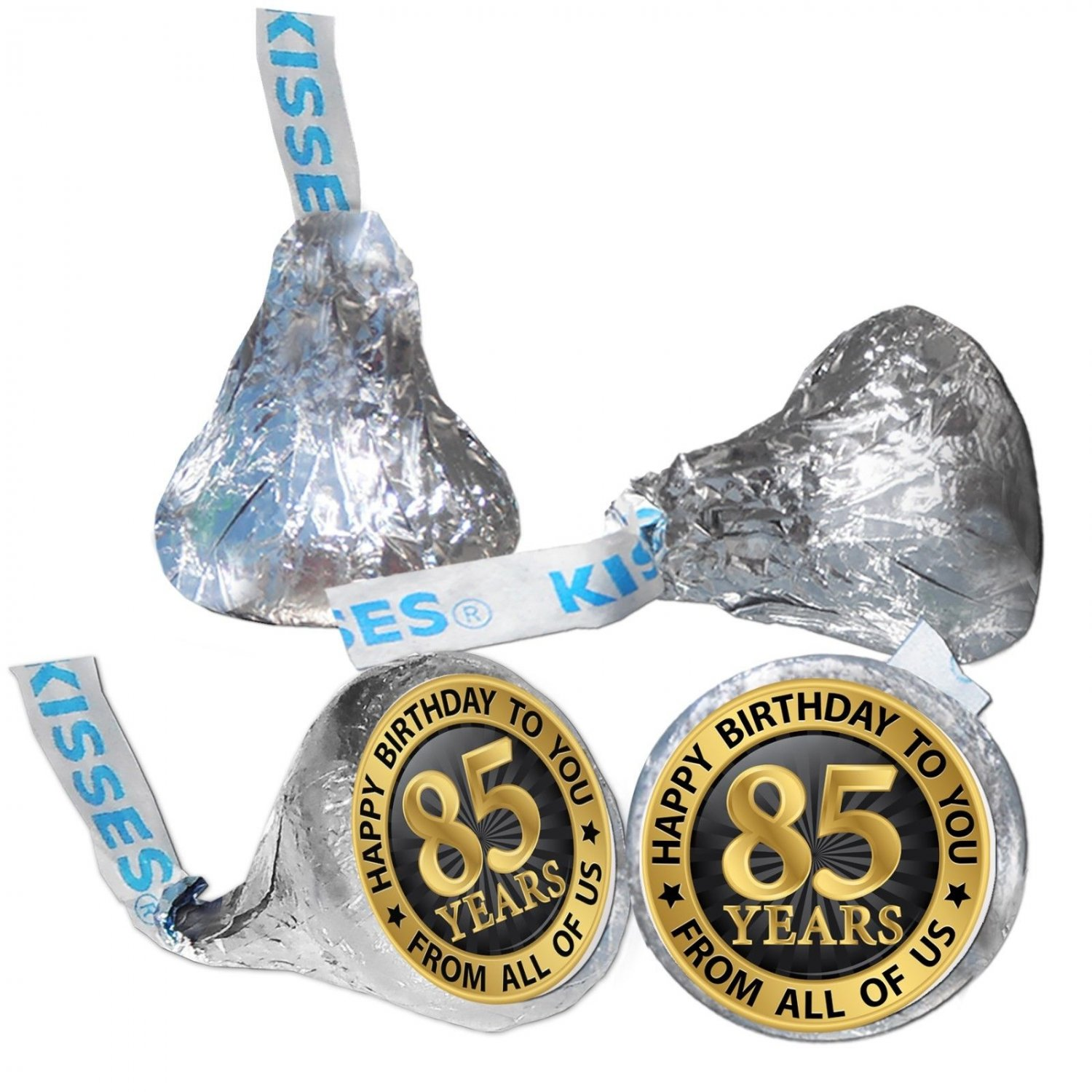 85th Birthday Party Supplies Hershey Kisses Kiss Labels Stickers From All Of Us