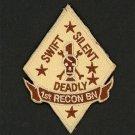 USMC 1st Recon Bn desert OD PATCH diamond! 1st Reconnaissance Battalion Marines
