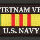 Embroidered Military Patch USN US Navy Vietnam Veteran Service Ribbon Iron-On