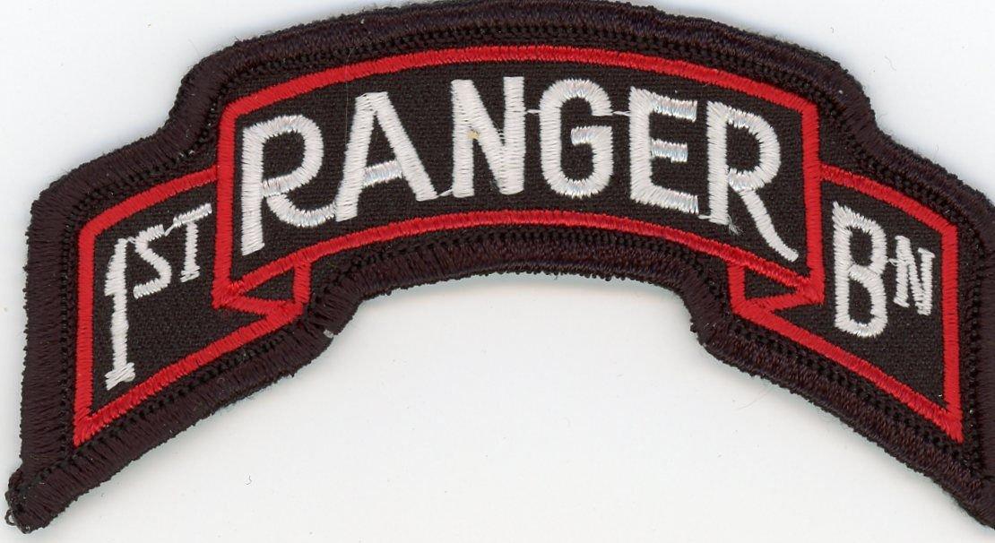 U.S. Army 1st Ranger Battalion Tab Military Veteran Patch 3-3/4'' Iron-On Biker
