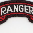 U.S. Army 1st Ranger Battalion Tab Military Veteran Patch 3-3/4'' Iron-On Biker