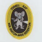 US ARMY TUNNEL RAT  VIETNAM VETERAN PATCH 3' IRON-ON BIKER MILITARY