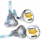 GRADUATION PARTY SUPPLIES 108 HERSHEY KISS KISSES LABELS Class of 2017 Gold Cap