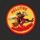 HELL FIRE HELLFIRE USMC US MARINE CORPS MARINES EMBROIDERED PATCH 3 inches