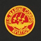 """US Marine Corps Aviation Patch Embroidered Iron-On Patch [3"""" Round]"""
