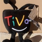 "TIVO PROMOTIONAL PLUSH DOLL 9"" TIVO BLACK TV TELEVISION ADVERTISING TOY 1990's"