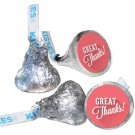 108 Great Thanks Hershey Kiss Labels Stickers Party Favors, Gift Bags