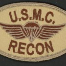 USMC Marine RECON Oval Patch U.S. Marines Semper Fi Desert Marines Vet Iron-On