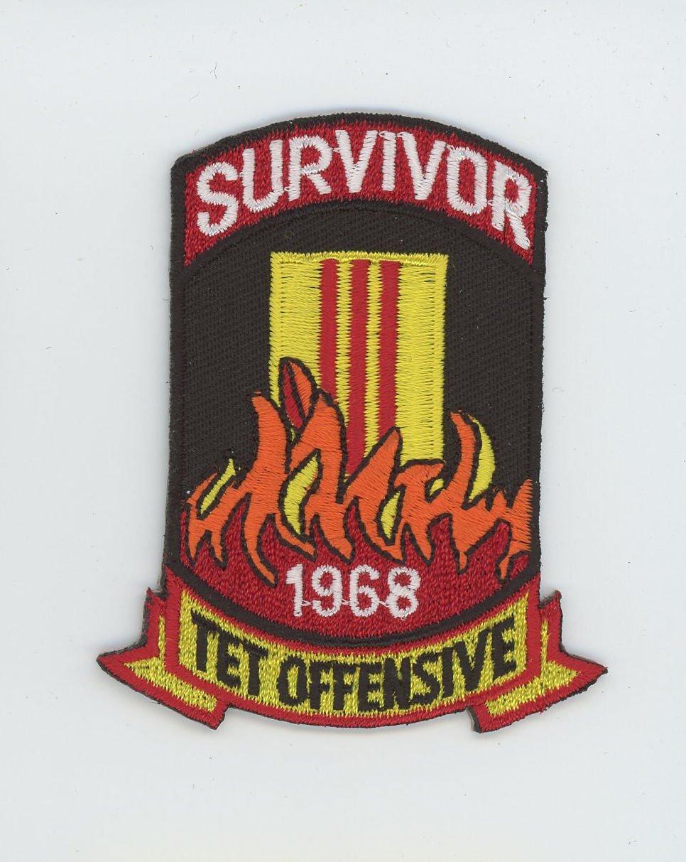 """1968 Tet Offensive Vietnam Survivor Patch 3"""" Army Navy Marines Air Force Veteran"""