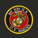 USMC Marine Corps Patch MY SON IS A U.S. MARINE Round Crest United States 3""