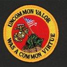 "MARINE CORPS USMC IWO JIMA PATCH UNCOMMON VALOR LOGO BRAND NEW 3"" IRON-ON"
