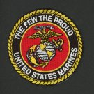 "U.S. Marine Corps USMC THE FEW THE PROUD Patch 3"" IRON ON EMBROIDERED Military"