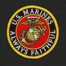"BRAND NEW U.S. Marine Corps USMC LOGO ALWAYS FAITHFUL Patch 3"""