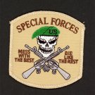MESS WITH THE BEST DIE LIKE THE REST SPECIAL FORCES IRON ON EMBROIDERED PATCH