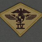 U.S. Marine Corps USMC 4TH AIR WING Division SUBDUED PATCH BRAND NEW 3 3/4""