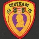 "Purple Heart Vietnam Patch 1959 - 1975 3"" Veteran Army Marines Military USMC"