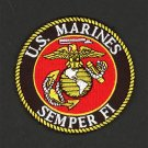 """U.S. MARINE CORPS SEMPER FI - 3""""  PATCH - NEW - IRON ON EMBROIDERED PATCH"""