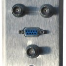 Wallplate with RGB BNC, 9-pin F - Single Gang Wallplate, stainless