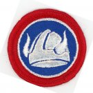 US ARMY 47TH INFANTRY DIVISION COLOR PATCH RED BLUE VIKING HELMET 2 1/2""