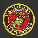 "USMC Marine Corps 3""  Patch U.S. MARINES LEATHERNECK Embroidered Iron On"