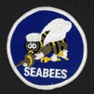 """U.S. Navy Seabees Embroidered Iron-On Patch [3"""" Round - Blue]"""
