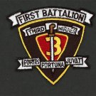 """1ST BATTALION 3RD MARINES 3"""" HAT PATCH US MARINES PIN UP 3RD MAR DIV MCB HAWAII"""