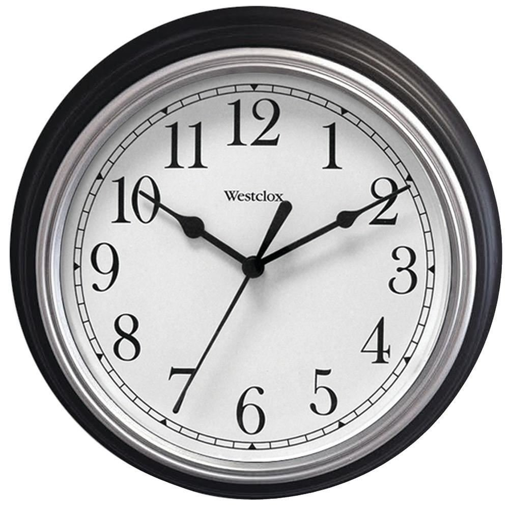 "WESTCLOX 46991A 9"" Decorative Wall Clock (Black)"