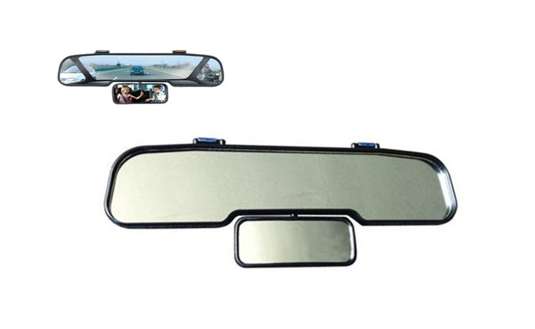 Double Wide Angle Mirror -Shatterproof and vibration free