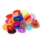 Colorful Telephone Wire Elastic Band Headwear - 40 Pcs