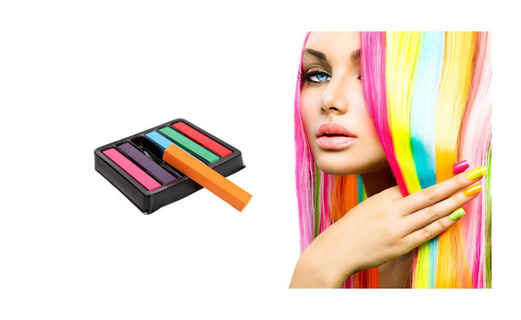 Colorful Non-toxic Soft Hair Crayons Pastel Kit Temporary Chalk Dye
