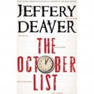 The October List by Jeffery Deaver - Hardcover Fiction