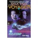 Violations (Star Trek Voyager, Book 4) by Susan Wright - Paperback
