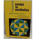 Essays in Aesthetics by Jean-Paul Sartre - Paperback VINTAGE 1966 2nd Edition
