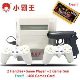 NES 8 bit video game system classic game console with light gun free 400in1 game card