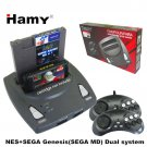 HAMY Top quality NES+SEGA Genesis/MD compact 2in1dual system console