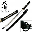 Hand Forged Katana W / Miyamoto Musashi style Tusba