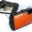 NIKON COOLPIX AW100 WI-FI WATERPROOF GPS 16MP Orange