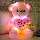 Teddy Bear Doll Plush Toy Luminous Teddy Bear Pink Fabric Doll Birthday Gift, Height 70cm