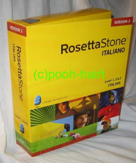 Rosetta Stone Italian, Level 1, 2 & 3 Italiano, V3 *FREE SHIPPING*