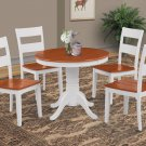 """36"""" BROOKLINE DINETTE DINING ROOM TABLE SET  IN WHITE CHERRY FINISH"""