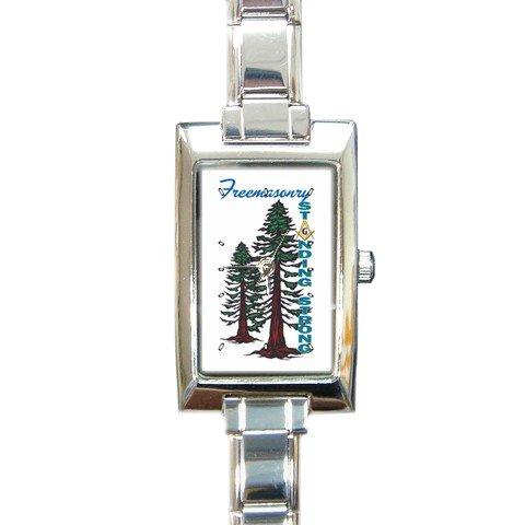 2008 Grand Family Rectangular Italian Charm Watch