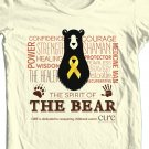 Size: XL / The Bear t-shirt benefiting CURE Childhood Cancer: Color: Tan
