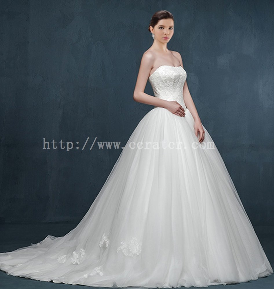 Charming Ball Gown Wedding Dress with Train