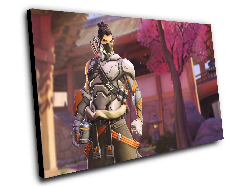 "Overwatch Anniversary Cyberninja Hanzo Game  12""x16"" (30cm/40cm) Canvas Print"