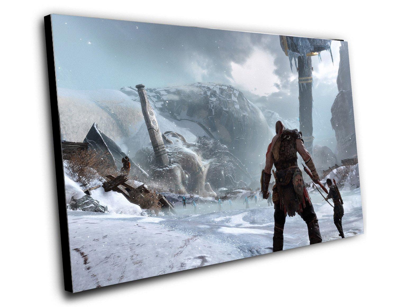 "God Of War Game 2017  8""x12"" (20cm/30cm) Canvas Print"