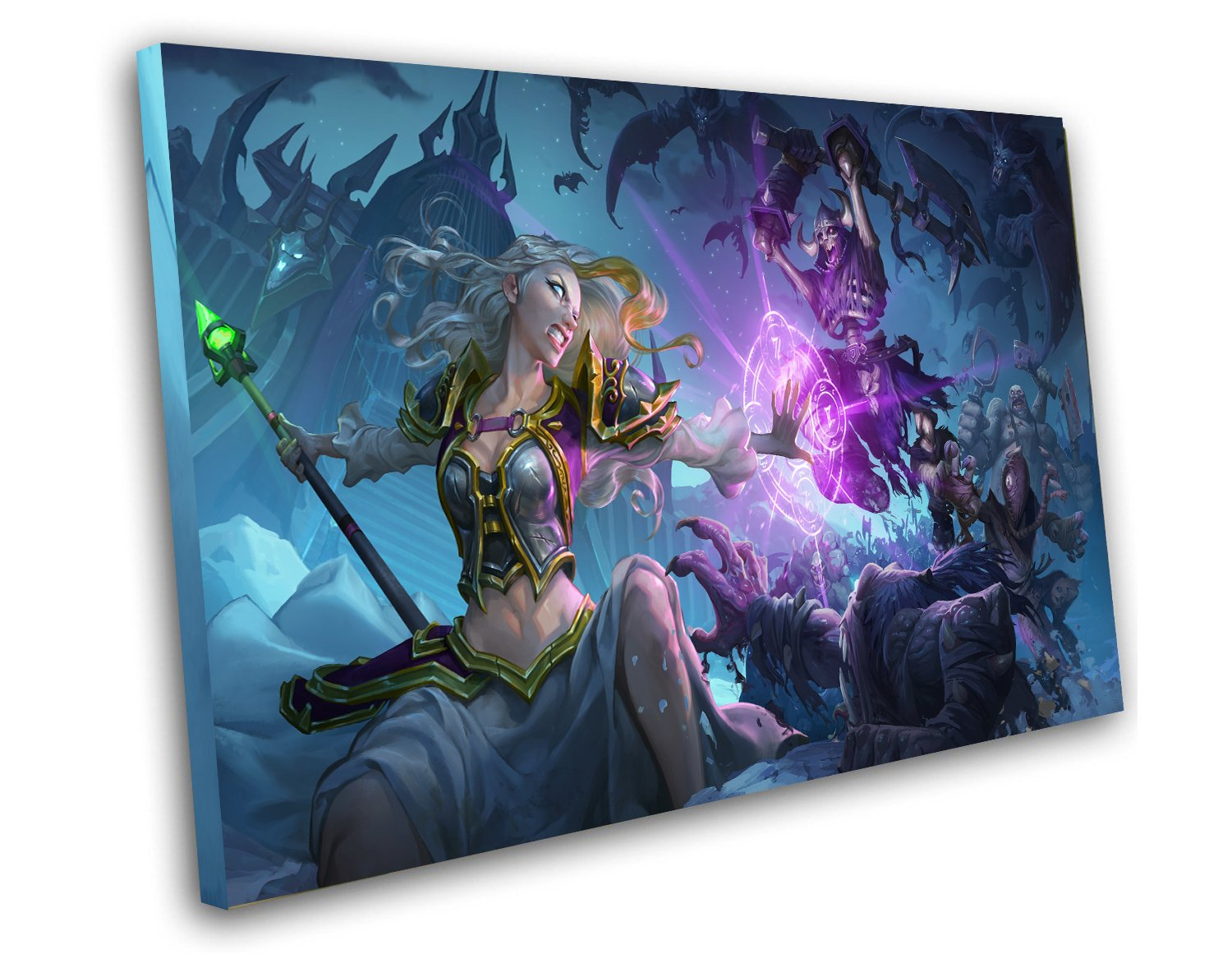 "Hearthstone Knights of the Frozen Throne Game 8""x12"" (20cm/30cm) Canvas Print"